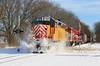 Winter Wonderland (BravoDelta1999) Tags: wisconsinandsouthern wsor railroad milwaukeeroad milw railway jline foxlakesubdivision emd sd40m2 4223 wamx t001 manifest train solonmills illinois