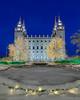 """Salt Lake Temple - holiday lights (IronRodArt - Royce Bair (""""Star Shooter"""")) Tags: templesquare saltlaketemple christmas christmaslights bluehour nightphotography nightscape nightscaper bluehourphotography"""
