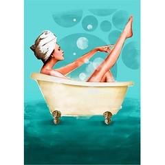 Revista Mia- Aquarius zodiac by Luis Tinoco (LUIS TINOCO - ILLUSTRATOR) Tags: illustration illustrator ilustrador ilustracion illustrations ilustración ilustrator girl aquarius bath