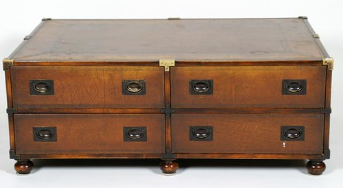Leather Top 8 Drawer Coffee Table ($308.00)