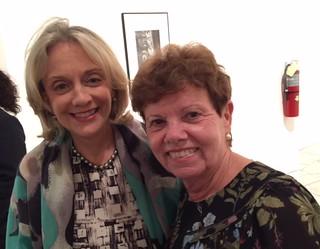 Marijean Miyar and Carol Damian at the Lowe Museum opening