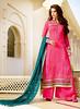 Pink Tussar Silk Straight Cut Salwar Kameez (nikvikonline) Tags: salwarkameez tussar tussarsilk silkkameez silk kamiz kamizonline red pink achkanstyle nikvikcom nikvik pakistanikameez womenfashion womenclothing weddingdress women wedding womenswear wear