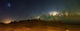 Milky Way Setting Below The Pinnacles Desert, Western Australia
