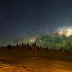 Milky Way Setting Below The Pinnacles Desert, Western Australia thumbnail