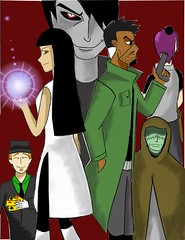The Mubarak Members (Waterman1993) Tags: jsa world mubarak khalid nephthys silhouette flint clouse noelle superpowers villains antagonists by justin mcdonald fanart anime