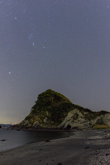 入江のオリオン (Mori.Kei) Tags: オリオン座 orion 三浦半島 毘沙門白浜 星空 星 stars night 海 sea ocean 砂浜