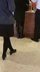 20170106_111929 (ph4eveh) Tags: black boots brown tights sexy legs woman candid