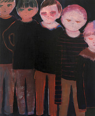 untitled (yoshiko fukushima) Tags: art painting paintings oilpainting oilpaintings contenporaryart contemporary drawing drawings illustration illustrations cartoon cartoons people human man face eye eyes portrait portraits oiloncanvas oncanvas canvas color colors crowd black lightbrown brown kids kinder
