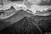 Complexity / Verschachtelt (Steffen Schobel) Tags: walmedingerhorn vorarlberg view mountains alps widderstein schwarzweis hdr landscape landschaft berge blackandwhite bw alpen kontrast contrast retro