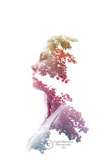 In the light of Rainbows. (Paper Meadows Photography) Tags: doubleexposure multipleexposure girl profile people rainbowcolor portrait doubleexposureseries nature face canon6d creativeedit hues white background