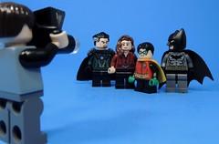 Family Photo (MrKjito) Tags: lego minifig super hero comics batman robin damian wayne bruce talia alghul ras demon camera photo family dc comic