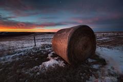 First Light (Ian McGregor Photography) Tags: canada country dawn farm hay ianmcgregor morning nikon photography saskatchewan winter bale ianmcgregorphotographycom rural snow twilight