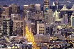 Market Street - San Francisco (Tony Shi Photos) Tags: sanfrancisco sf san francisco ca cali california usa bayarea twinpeaks marketstreet buildings sfskyline urban urbanskyline baybridge downtown downtownsf