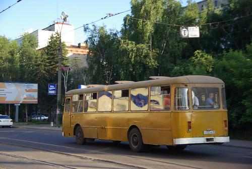 Irkutsk company bus LiAZ-677M У932КВ38 ©  trolleway