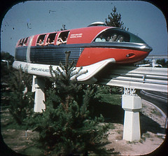 Tomorrowland Reel 3, #5a - The Monorail Whizzes Past Fir Trees (Tom Simpson) Tags: viewmaster slide vintage disney disneyland 1960s vintagedisney vintagedisneyland