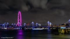 the pink oasis (Dave Pearce (London)) Tags: london eye cocacola pink long exposure river thames riverthames londoneye bigben jubilee bridge light trails 18135