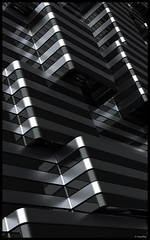 Site Lines (digefxgrp) Tags: abstract architecture lines aluminum glass cladding light form bw modernism building