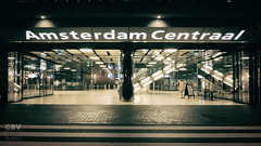 Amsterdam - Centraal Station (Boudewijn Vermeulen ) Tags: amsterdam centraalstation architecture nachtopname night nightlife publ railways station trains transport