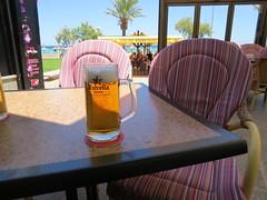 Estrella beer (Jean Bloor) Tags: beer restaurant chairs eating estrella cala majorca millor