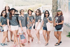 ABC Tech Girls! (iheresss) Tags: girls vacation film thailand outdoor group agfa nikonf huahin blackmountain waterpark manuallens vista200 analogfilm