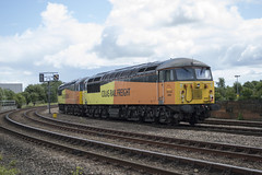 56087 + 56105 0Z56. 19th July 2015 (MitchellTurnbull) Tags: park light yard engine july rail junction tyne class gateshead lane 56 19th doncaster 2015 colas 56087 56105 0z56