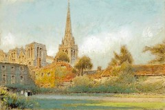 Albert Goodwin - Chichester Cathedral, viewed from Bishop's Palace Gardens 1917 (frugaltimesinc) Tags: ocean old city nyc travel flowers blue autumn trees winter light sunset red sea sky blackandwhite orange white snow chicago newyork abstract black mountains flower color tree green art love beach nature water beautiful beauty leaves yellow skyline architecture modern clouds forest vintage painting landscape outdoors photography rocks colorful wildlife bison celestialimages adamasar