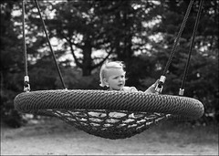 Little Girl At the Swing (Eline Lyng) Tags: leica people playground norway children day norwegian national 75mm 2015 larkollen