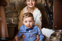 George and his sister (CrisssFotos) Tags: ceremony cheam church november2016 stdunstans wedding child boy george blue shirt bow tie lad canon5dmkiii tamron2470mmf28