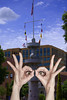Eyes See You (swong95765) Tags: icu hands eyes tower sky flags see look watch