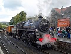 BR Standard '4MT' 2-6-0 No. 76084 @ Grosmont,  North Yorkshire Moors Railway (Ermintrude73) Tags: northyorkshiremoorsrailway nymr nymrautumnsteamgala2016 grosmont 76084 brstandard4mt260