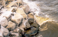 Frost and Falls (daddymaverick91) Tags: winter snow cold chilly lake erie cleveland ohio rocks salty freeze ice icycle brown bay
