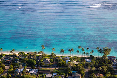 Oahu Lanakai Beach from Above (The Charliecam) Tags: oahu pacific hawaii island canon6d ocean outdoor adventure travel water lanakaibeach kailua 24105l zoom peaceful vacation pillboxtrail hike view vista palmtree waves coral