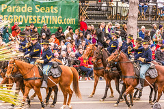 First Cavalry Soldiers (Thad Zajdowicz) Tags: people men women horses animals soldiers cavalry roseparade pasadena california zajdowicz festive color street urban city canon eos 5d3 5dmarkiii dslr digital availablelight lightroom 2017 outdoor outside army riding riders