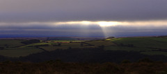 ephemeral (amazingstoker) Tags: exmoor ephemeral cloud light ray patch tarr moor pool field panorama finger landscape sky shaft god tree hedge green sun somerset b3223 withypool