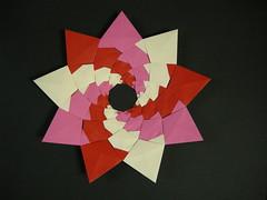 The Nonag, again (Mélisande*) Tags: mélisande origami modular nonagon nonag