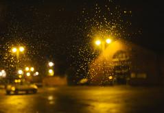 7/365 (efsb) Tags: 7365 project365 2017inphotos 2017yip night leek staffordshiremoorlands carpark nocturnal streetlights windscreen raindrops