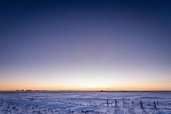 Follow the One (Daniel Caridade) Tags: iceland one um estrada road south sul snow neve sunset fence cerca pordosol islândia