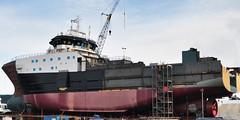2017-01-28 Factory Trawler America's Finest (02) (2048x1024) (-jon) Tags: anacortes fidalgoisland sanjuanislands skagitcounty skagit washingtonstate salishsea guemeschannel portofanacortes dci dakotacreekindustries drydock boat ship vessel americasfinest fishermansfinest factorytrawler trawler skipstekniskas st116xl build hull construction paint shipyard boatyard a266122photographyproduction pacificocean pacific ocean pacificnorthwest pnw
