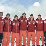 Men's BC Ski Team with their coaches