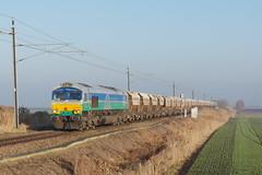 GBRf 66711 'Sence' - 24.1.17. (scud153) Tags: type5 gm generalmotorsemd coco locomotive class667 66711 sence gbrf gbrailfreight aggregateindustries paa 6e84 silicasand poplardrove littleport cambridgeshireuk
