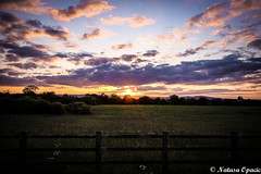 When The Sun Has Set, No Candle Can Replace It (_Natasa_) Tags: uk sunset england sky sun art nature grass clouds canon fence landscape sigma m5 sigma1020mm canoneos600d natasaopacic natasaopacicphotography
