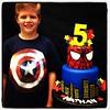 Happy Birthday to this cutie pie Nathan ⭐️✨⭐️ #super  #hero #heroes #spiderman #captain #american #AMAZING #city #ilovemyjob #royaltycakes #fondant #edibleart #cake #cakeartist (Royalty_Cakes) Tags: boy cakes cake square disneyland lofi spiderman disney birthdaycake squareformat superheros chino chinohills customcakes boysbirthday cakeart superherocake iphoneography instagramapp clientandcake