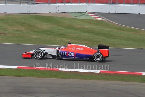 Will Stevens in the 2015 British Grand Prix at Silverstone