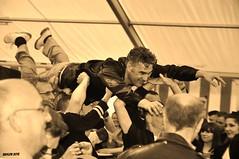 the flying man (ericbaygon) Tags: monochrome atc sepia blackwhite concert nikon live band meeting singer rockabilly groupe chanteur tournai hotchicken d300s