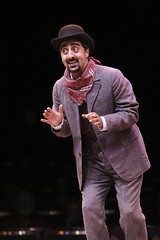 """Amir Talai as Ali Hakim in the 2010 Music Circus production of """"Oklahoma!"""" at the Wells Fargo Pavilion July 27-August 1.  Photo by Charr Crail."""