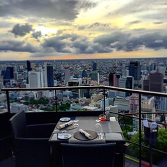 Amazing first night in Thailand after travel 3 days none stop from the USA. #restaurant #view #landscape #bangkok #thailand #travel #landscape #student #holiday #emirates #moonbar #banyantreehotel (penna2014) Tags: travel holiday landscape thailand restaurant student view bangkok emirates banyantree banyantreehotel moonbar