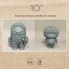 Brand new Treeson and Ren are coming! (Bubi Au Yeung) Tags: birthday toy design character ren figures treeson bubiauyeung 10yearsanniversary fluffyhouse