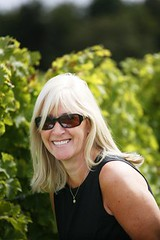 "Lynne Levin in Clos Rosarie Vineyard • <a style=""font-size:0.8em;"" href=""http://www.flickr.com/photos/133405556@N08/19892302319/"" target=""_blank"">View on Flickr</a>"