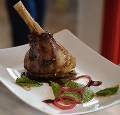 Dish 3 - Lamb Shank with Pea Puree