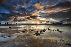 dramatic sunset (Steve Cheung Hk) Tags: china longexposure sunset sea hk cloud yellow hongkong gold nikon glow moody cloudy dusk shoreline dramatic sigma estuary shore 1020 muddy hitech sunray d600 rgnd